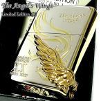 ZIPPO 限定 1000個生産 エンジェルウィング トライバル ジッポ ライター シルバー&ゴールド 最新 天使の羽 金銀 シリアルNO刻印 メンズ クリスマス ギフト
