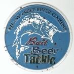 アメリカン ブリキ看板 釣り Bait Beer Tackle 丸型 壁飾り ビンテージ アメリカン雑貨 アメリカ インテリア サインプレート USA カフェ 店舗に USA