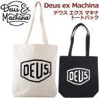 Deus ex Machina デウス エクス マキナ ロゴ キャンバストートバック サーフィン モーターサイクル ラウンドタイプ