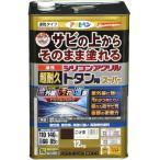 【あすつく対応】アサヒペン - 油性超耐久シリコンアクリルトタン用 - 12KG - こげ茶【サビの上からそのまま塗れる】