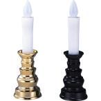 燭台付安心のろうそく 中 ARO-3201N ゴールド(GD)