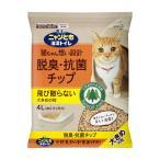 ニャンとも清潔トイレ チップ 脱臭・抗菌チップ4L 大きめの粒 (4L*4個)1箱 [1ケース 4リットル 4個入 ネコ 猫砂 にゃんとも]