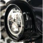 【中古】【ホグワークズ】ヘッドライトトリムリング ブラック 2014〜2020 FLHX等 HW131386