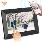 SCISHIONブラックWiFiデジタルフォトフレーム 1280*800高解像度タッチスクリーン IPS視野角16GB内部ストレージ 1080P写