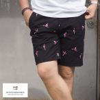 スコッチアンドソーダ SCOTCH&SODA フラミンゴ柄 ハーフパンツ メンズ ショーツ 刺繍 フラミンゴ 292-32518