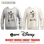 ディズニー Disney 公式ライセンス grn ミッキーマウス コットンスウェット トレーナー