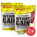 ケンタイ プロテイン ウエイトゲインアドバンス バナナラテ風味 3kg ×2個セット  - 健康体力研究所 (kentai)