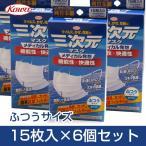 クリーンラインコーワ 三次元マスク ふつうサイズ ホワイト 15枚入×6個セット  - 興和