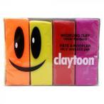 MODELING CLAY(モデリングクレイ) claytoon(クレイトーン) カラー油粘土 4色組(ホット) 1Pound 3個セット