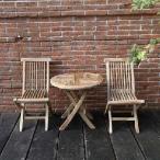 ジャービス ミニ折り畳みセット(無塗装)(テーブル×1 チェア×2) 20871