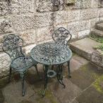 ジャービス アルミ鋳物テーブルセット(中)(テーブル×1 チェア×2) 13036