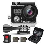 Dragon Touch Vision3 4K アクション カメラ 1600万画素 30メートル 防水カメラ 170度広角 レンズ2インチ 2.4G無線RFリモートコントロール 二つ予備バッテリー