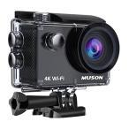 4K高画質 MUSON(ムソン) アクションカメラ 4K WiFi搭