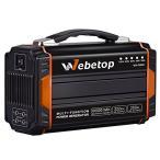ポータブル電源 「正規代理店」Webetop 大容量 222Wh 60000mAh モバイルバッテリー 正弦波 AC DC USB出力 キャンプ 防災に 250W静音インバーター 小型発電機