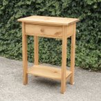 ミニテーブル・棚板付き パイン材 無垢 ナチュラル 北欧 家具 オーダー 無垢 テーブル ナイトテーブル サイドテーブル