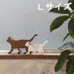 キャットシルエット Lサイズ 木製 オブジェ 猫 ネコ オブジェ 北欧 雑貨 置物 インテリア ナチュラル
