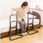 直送品 代引き不可 国産 アルミ製らくらく立ち上がり手すり 2個組 手すり 移動 歩行支援用品 介護用品 立ち上がり サポート トイレ 簡易 簡易手すり 介護