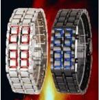 Yahoo!ハートドロップ防水LEDブレスレット型腕時計 2本セット