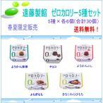 ゼロカロリー和風デザート5種セット春夏「こし、抹茶、きなこわらび、チョコ、よもぎもち、」 5種×6個(合計30個)【遠藤製餡】