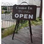 オープンクローズスタンド ブラウン OPEN/CLOSED 看板