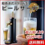 【グリーンハウス】 超音波式 スタンド型 ビールサーバー ブラック GH-BEERF-BK 冷たさキープ&冷却できる保冷剤付属