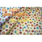 猫好き集まれ!Loralie Designs USAコットン 「NEWレインボウ」 /生地/布/綿/ブランド/猫/犬/ネコ/イヌ/肉球/にくきゅう/輸入生地