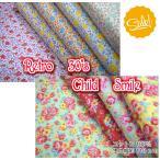 Yahoo!fabric-store heartsewing数量限定! Retro 30's Child Smile/コットン100% /生地/布/綿/フラワー/花柄/セール生地/パッチワーク