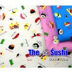 Yahoo!fabric-store heartsewingいきなり緊急値下げ!限定セール品 The Sushi/コットン100%/寿司/布/生地/綿/和食/セール/入園入学/エプロン