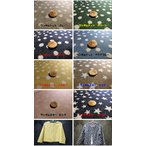 Yahoo!fabric-store heartsewingサラサラな肌触りで人気。ランダムスター・ニット /生地/布/綿/ニット星/スター/柄