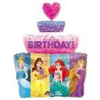 プリンセス バースデイケーキ バルーン ディズニー 風船 誕生日 お祝い ヘリウムガス入り