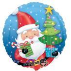 クリスマスバルーン サンタウィズツリー クリスマス風船 バルーン パーティー装飾