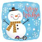 クリスマスバルーン ヘリウムガス入り クリスマス用バルーン ハッピースノーマン パーティー装飾
