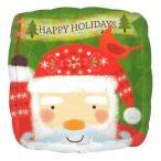 クリスマスバルーン クリスマス用バルーン ハッピーホリデーサンタ クリスマス風船 バルーン パーティー装飾