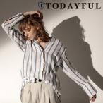 ショッピングSHIRTS TODAYFUL(トゥデイフル)Doublecuff Stripe Shirts  17春夏【11710419】