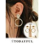 ショッピングmiddle 【予約商品】TODAYFUL(トゥデイフル)Middle Hoop Earring  18秋冬予約 11820923