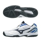 ブレイクショットAC 61GA174009 ホワイト×ブラック×ブルー  ミズノ テニスシューズ