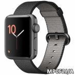 アップル Apple MP0F2J/A Apple Watch Series 2 38mm スペースグレイアルミニウムケースとブラックウーブンナイロンバンド[未開封]