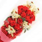 BIO プリティベア&ローズブーケ フレグランスソープフラワー 特製ケース付 お祝い 記念日 お見舞い バレンタインデー ホワイトデー 母の