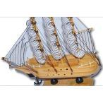 海賊船 帆船 木製 モデル 蛇帆 ジャパン (木目色)