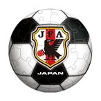 60ピース ジグソーパズル 球体パズル ブラックボール(サッカー日本代表チームモデル)