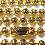 7902-【チェーン】 3mmボール ゴールド 98cm 1本