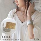 バングル 太め レディース アクセサリー アクセ ブレスレット ブレス ゴールド シルバー メタル シンプル 太い きれいめ 上品 大人 ジュエリー 調節可能
