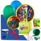 ゼルダの伝説 8人用 スタンダードセット 紙コップ 紙皿 誕生日 誕生会 ピクニック バーベキュー リンク ゼル伝 緑 パーティー