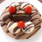 お誕生日用バースデーアイスケーキ チョコver 6号