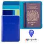Yahoo!No.1のmywalit品揃え+ポイント5倍 mywalit マイワリット カーフ レザー パスポート カバー カード ケース RFIDプロテクト MY1433 ギフト