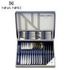 NINA NIRO(ニーナニーロ) カトラリーセット ディナー28P 151-828 <メーカー直送又はお取り寄せにつきキャンセル・返品・変更不可>