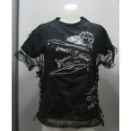 マッドガール 蜘蛛の巣メッシュ Tシャツ MGA−87 黒x白/L mad girl パンク ロック