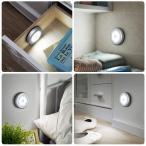 ORIA 人感センサーライト 電池式 LEDライト 屋内 小型 マグネット付き 自動点灯 消灯 懐中電灯 設置便利 軽量 玄関 階段 クローの画像