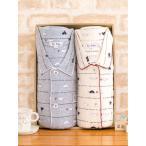 ショッピングパジャマ ペアパジャマ 肌にやさしい綿100%スムースニット地白くま柄/長袖・長パンツ/春・初秋向き素材//パジャマ レディース/Sサイズ/LLサイズあり