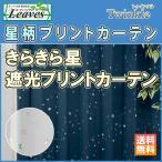星柄 カーテン 遮光 1級遮光 twinkle(トゥインクル)(幅)〜100×(丈)〜140cm 1枚